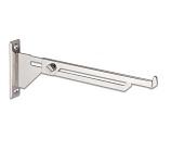 Extensible bracket for glass shelves