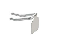 Steel flip ticket holder