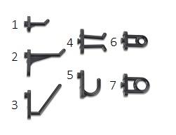 Plastic tool holding hooks